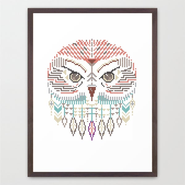 Image of Owl wild cross / poster A3