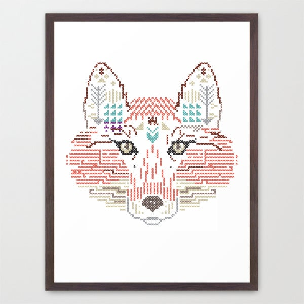Image of Fox wild cross / Poster A3