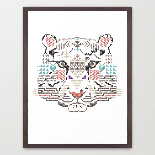 Image of Tiger wild cross / Poster A3