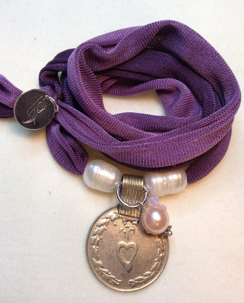 "Image of elastisches Seidenarmband ""Luck"""