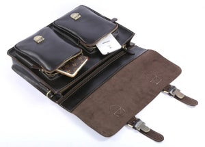 "Image of Handmade Superior Leather Briefcase Messenger 14"" 15"" Laptop / 13"" 15"" MacBook Bag (n67-3)"