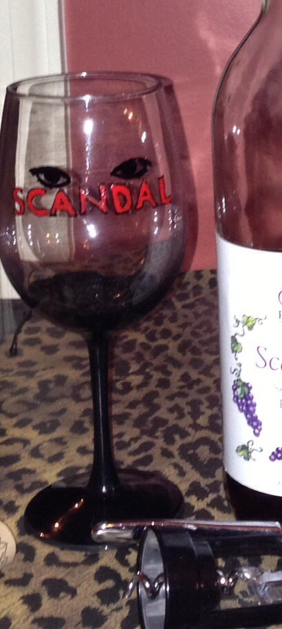 Scandal wine glass c me hand painted pieces Big w wine glasses