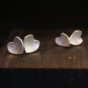 Image of One Pair of Heart Earrings