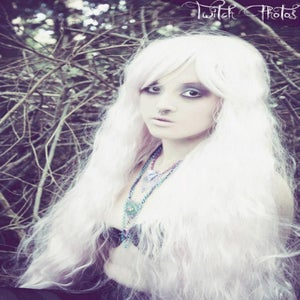 Image of Snowflake, White Crimped Wavy Curls Gothic Lolita Cosplay Wig