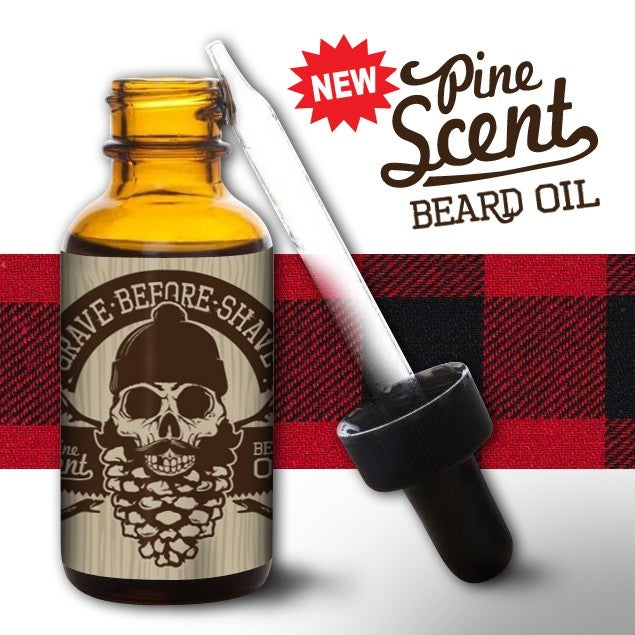 Image of GRAVE BEFORE SHAVE Pine Beard Tee/ Beard Oil combo