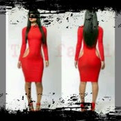 Image of RED HOT MAMA  LUXE HOLIDAY MID DRESS