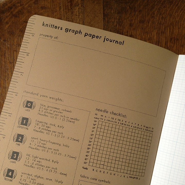 Image of Knitters Graph Paper Journal