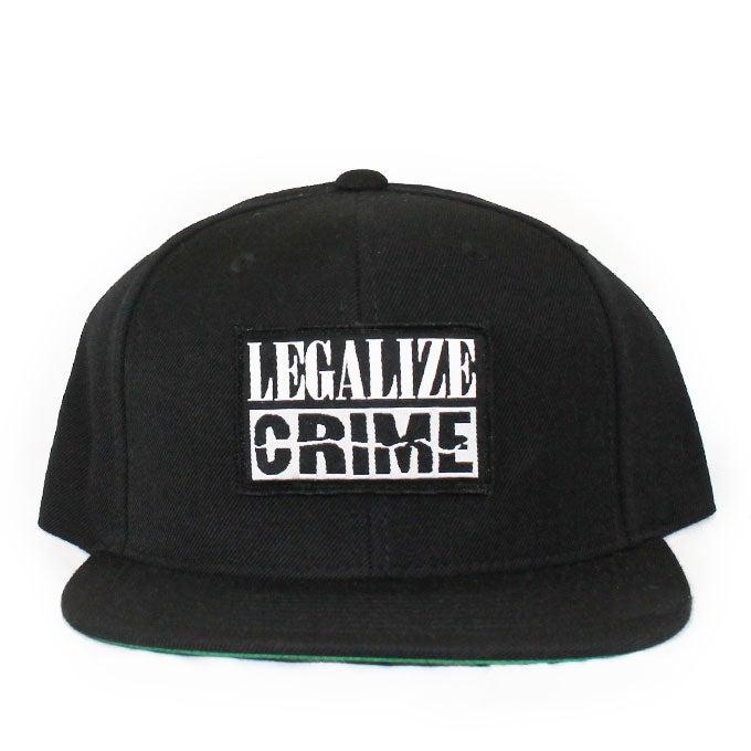 Image of LEGALIZE CRIME Black Snapback