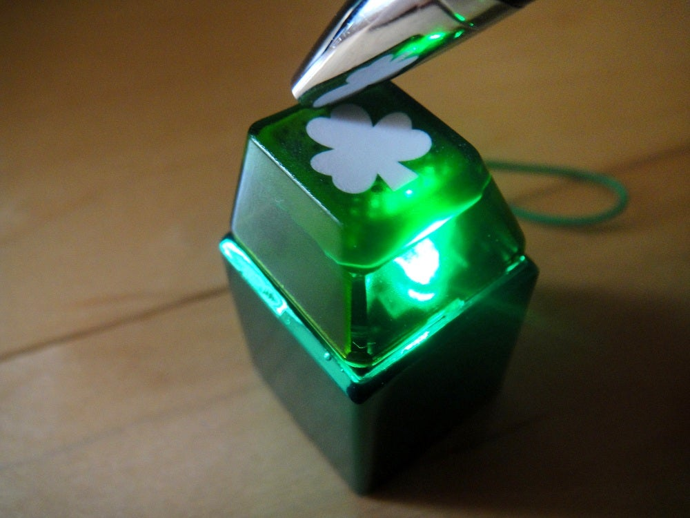 Image of Anodized Green Metal Keycap Keychain