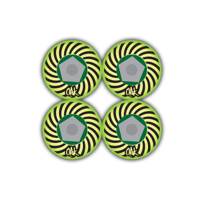 Image of Oak Wheels Spiral Series - Acid Green