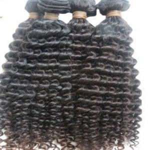 Image of virgin brazilian curly/ deep wave