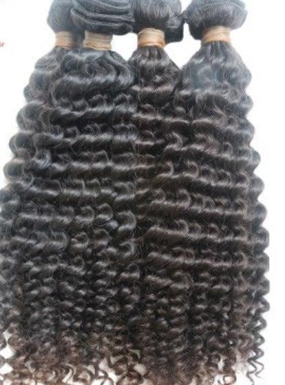 Image of (MM) virgin brazilian curly/ deep wave