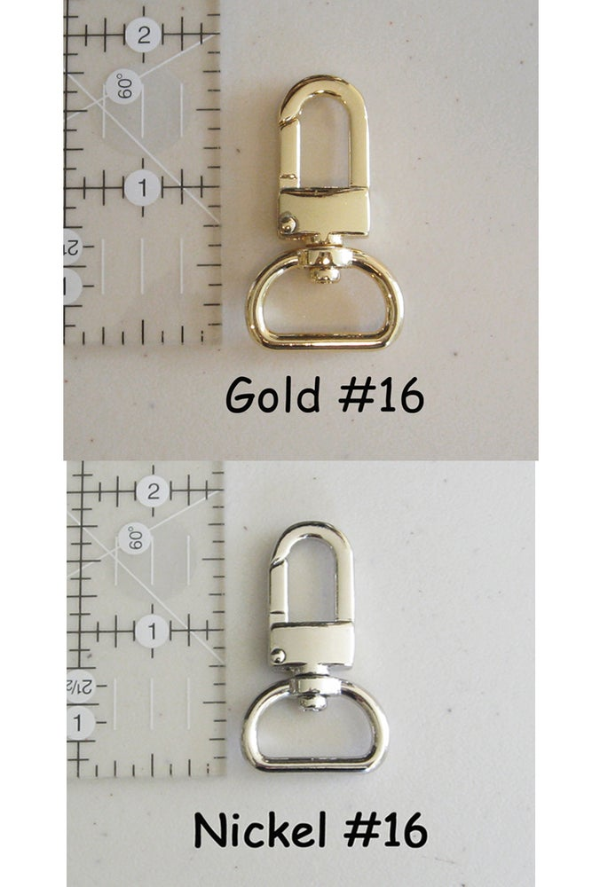 """Image of 20"""" (inch) Leather Strap - .75"""" (inch) Wide - GOLD or NICKEL #16 Hooks - Choose Color & Hardware"""