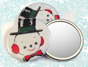 Image of Snowman Pinback Button