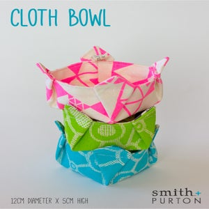 Image of Cloth bowl screen printed hemp/organic cotton