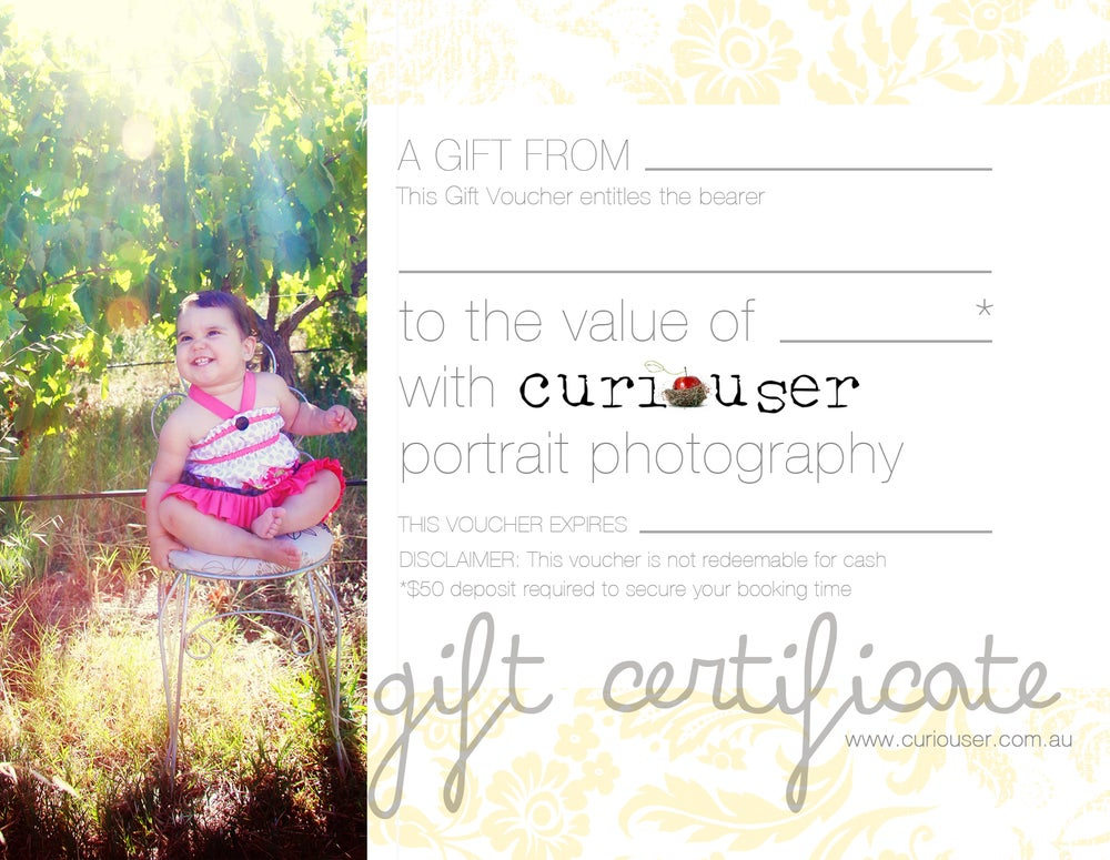 Image of Curiouser Photography - $250 Gift Certificate