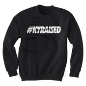 "Image of KY Raised Crewneck ""Hashtag"" Sweatshirt in Black & White"