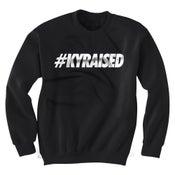 """Image of KY Raised Crewneck """"Hashtag"""" Sweatshirt in Black & White"""