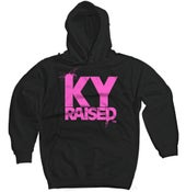 Image of KY Raised Black & Hot Pink Hooded Sweatshirt