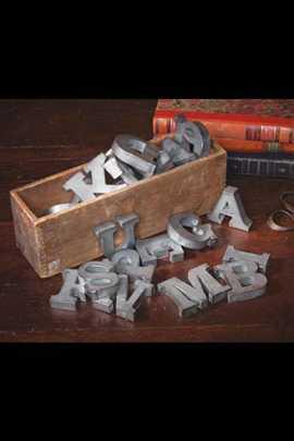 Image of Zinc Alphabet Letters