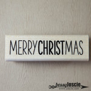 Image of Merry Christmas Handwritten Stamp