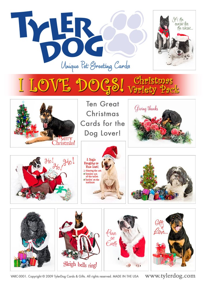 Image of I Love Dogs! Christmas Variety Pack