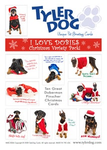Image of I Love Dobies! Christmas Variety Pack