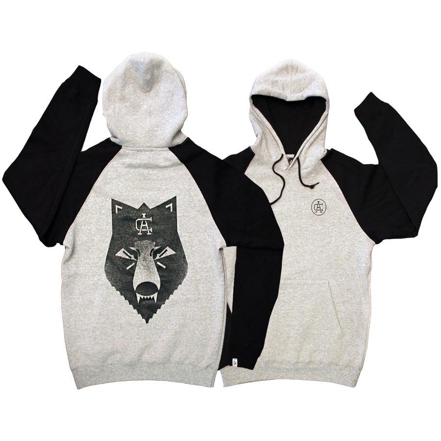 Image of Wolf Bite Contrast Hooded Sweatshirt