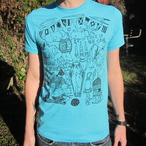 Image of Flags/Please Be Brave Shirt Turquoise