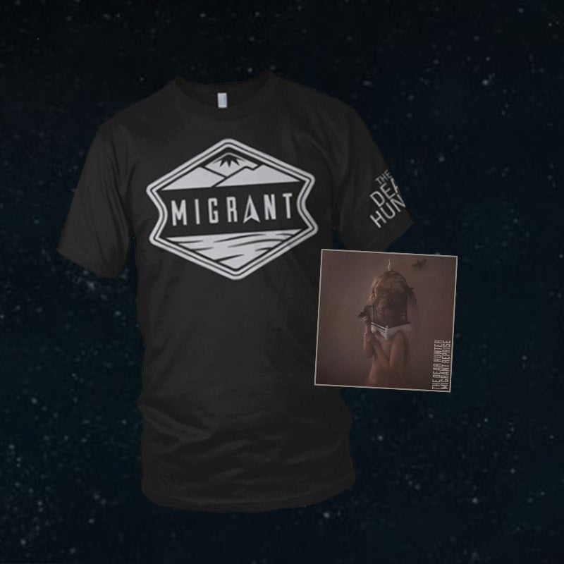 Image of 'Migrant Reprise' CD & 'Migrant' T-Shirt