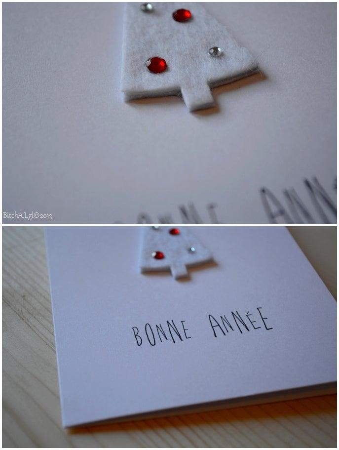 """Image of CARTE DE VOEUX """"Bonne Année"""" AU SAPIN BLANC"""