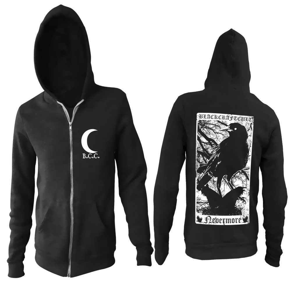 Image of Nevermore - Zip Up Hoodie