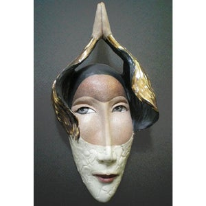 Image of Transcendental - Original Mask Art, Ceramic Wall Art, Mask Sculpture