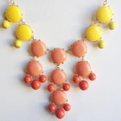Image of Coral and Yellow Bubble Necklace