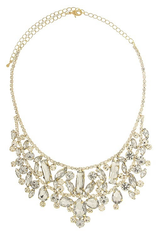 Image of Crystal Fitz Bib Necklace