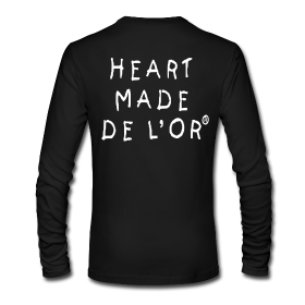Image of Heart Made Of Gold Logo T-Shirt (Long Sleeve Noir)