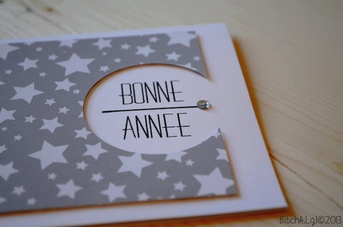 """Image of CARTE DE VOEUX """"Bonne Année"""" AU ÉTOILES"""