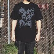 """Image of """"SEB SCRIPT"""" BLACK T-SHIRT"""