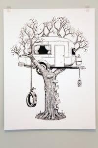 Image of Tree RV Poster