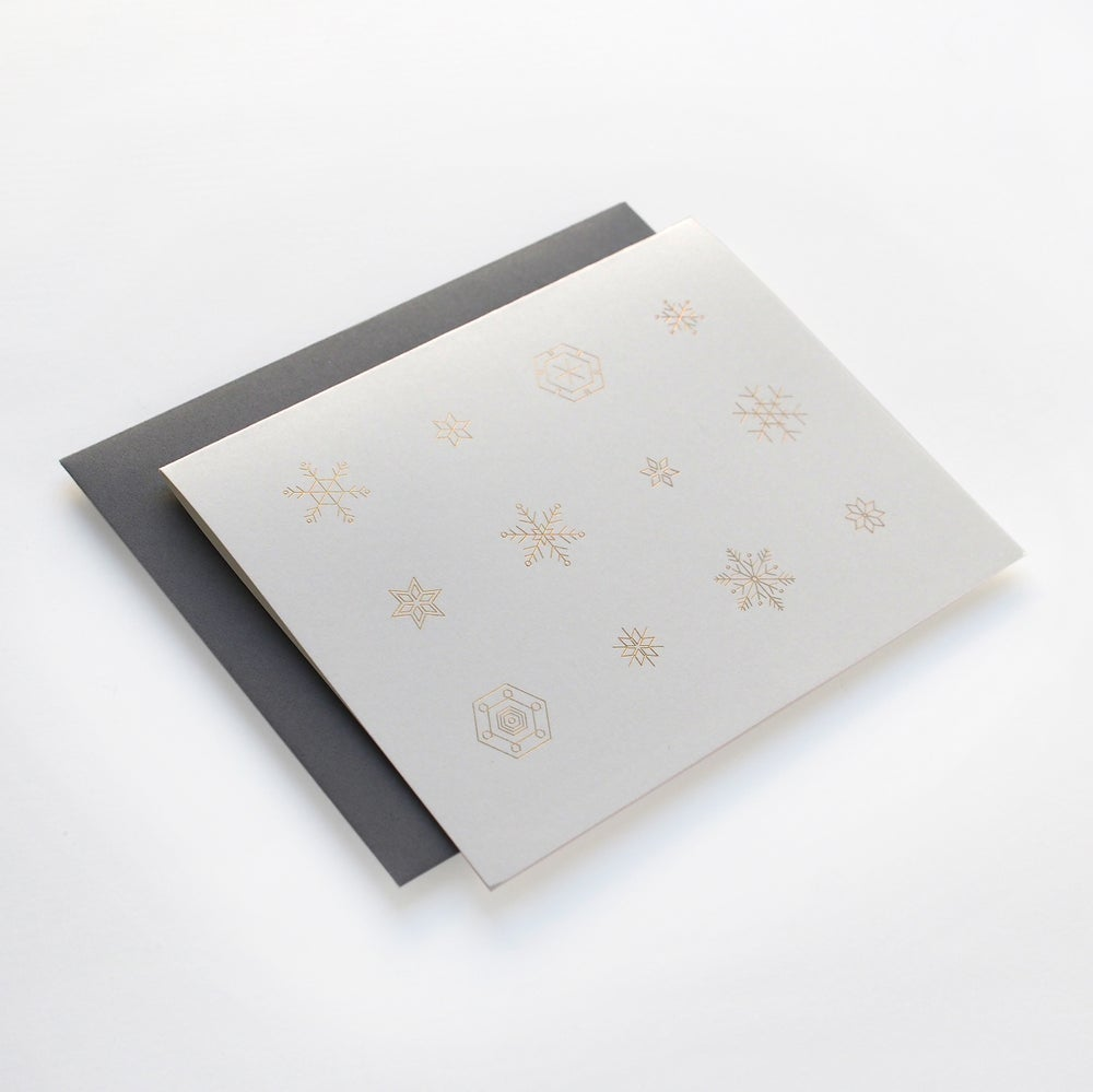 Image of Snowflake Card in Gold, Single Card