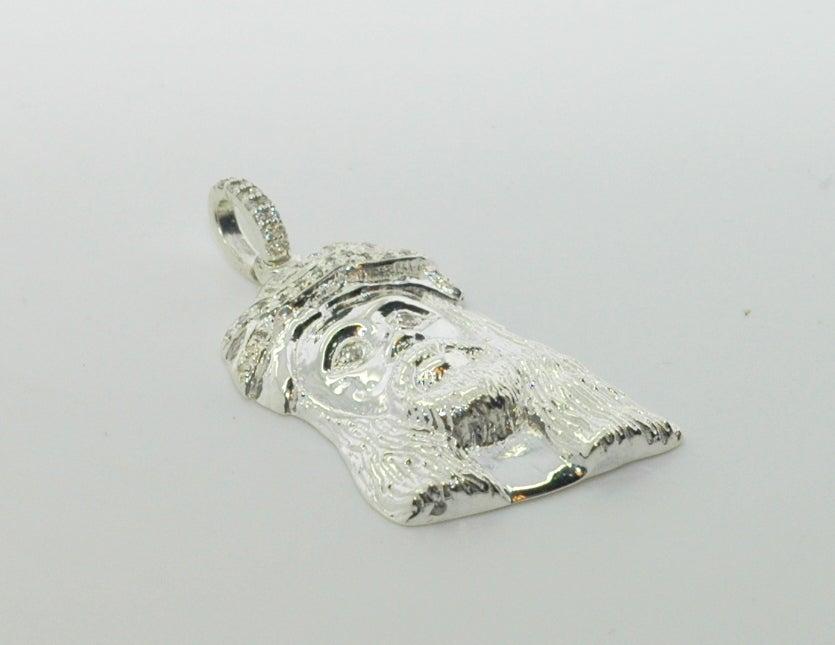 Image of 925 Silver Micro Messiah Jesus Head Diamond