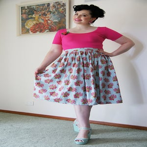 Image of 'High Tea' skirt - Cherries