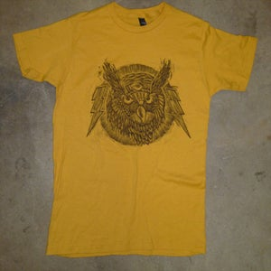 Image of Spirit Owl TCB Tee Ginger Gold