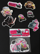 Image of 30 Days of Squids: Episode 2 Stickers - Group Pack 1