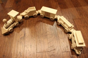 Image of Handmade Wooden Toy Train