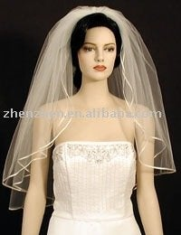 Image of Stunning veil - white satin edge