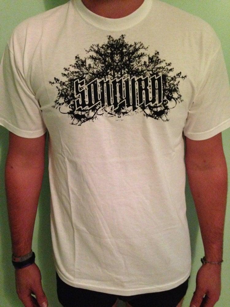 "Image of ""Sondura"" White T-Shirt with Black Logo"