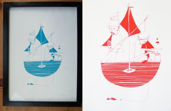 """Image of """"At Sea"""" screen print"""