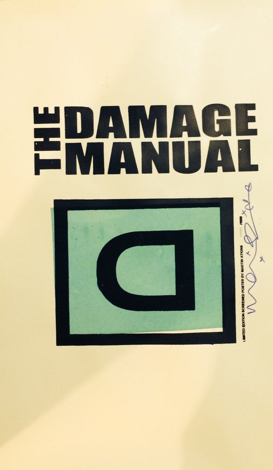 Image of Damage Manual luminous poster