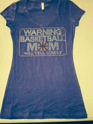 Image of Warning - Basketball Mom Will Yell Loudly (Short Sleeve Baby Doll Tee)